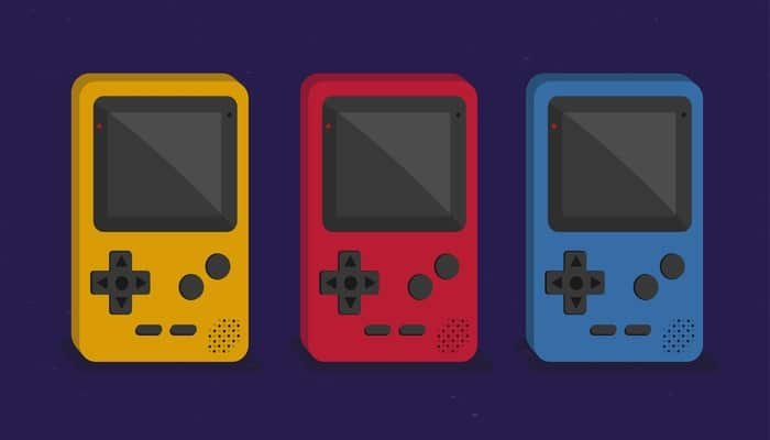 Retro video game handheld consoles