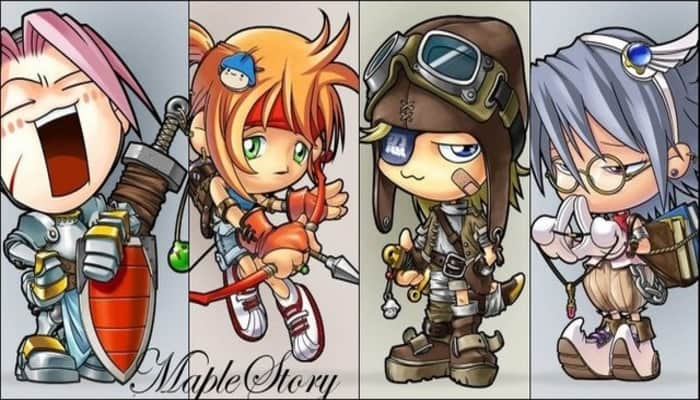 Four original Maplestory classes