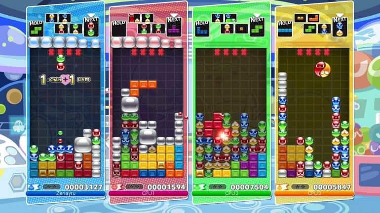 puyo puyo tetris gameplay
